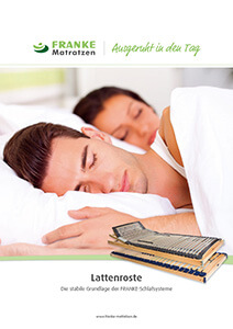 Prospekt Lattenroste - Franke Matratzen