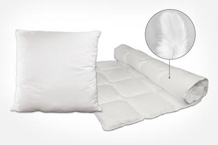 Bettwaren mit Federn - Kissen und Bettdecken