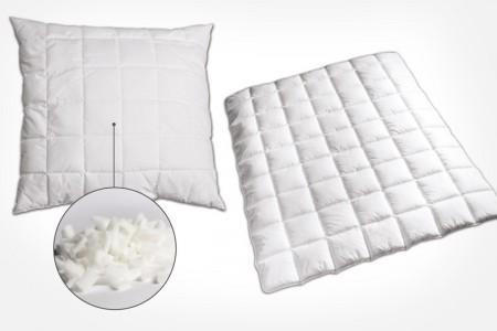 Bettwaren mit Polysticks - Kissen und Bettdecken