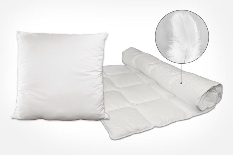 Bettwaren mit Federn – Kissen und Bettdecken