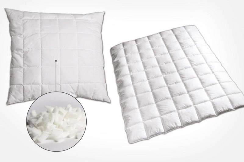 Bettwaren mit Polysticks – Kissen und Bettdecken