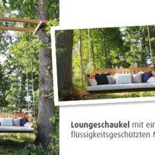 Loungeschaukel mit Matratze flüssigkeitsdicht